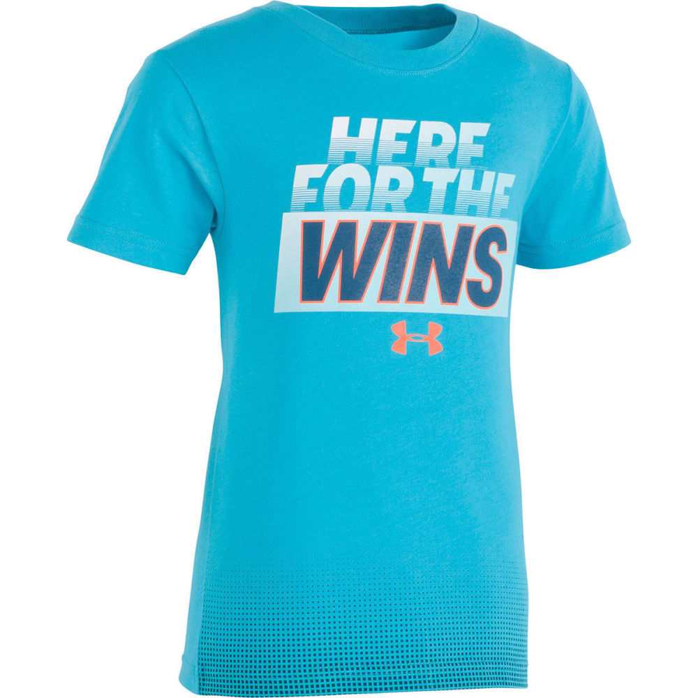 Under Armour Little Boys' Here For The Wins Short-Sleeve Tee - Blue, 6