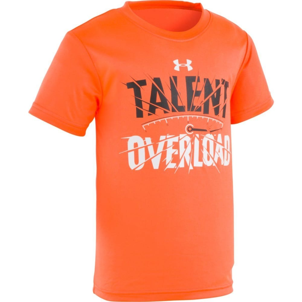 UNDER ARMOUR Little Boys' Talent Overload Short-Sleeve Tee - MAGMA ORANGE-82
