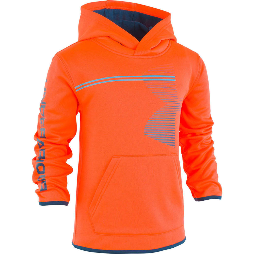 UNDER ARMOUR Little Boys' Zoom Big Logo Pullover Hoodie - MAGMA ORANGE-82