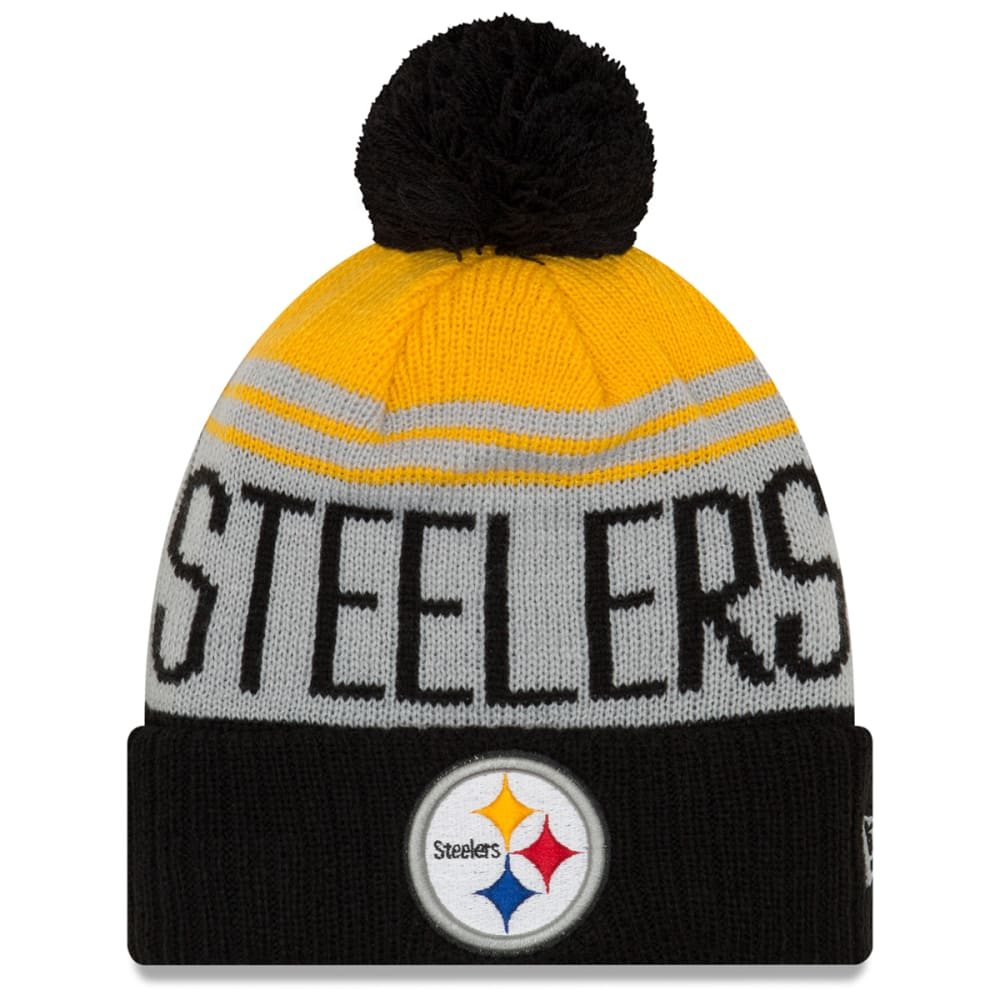 PITTSBURGH STEELERS Team Pride Cuff Pom Knit Beanie - BLACK