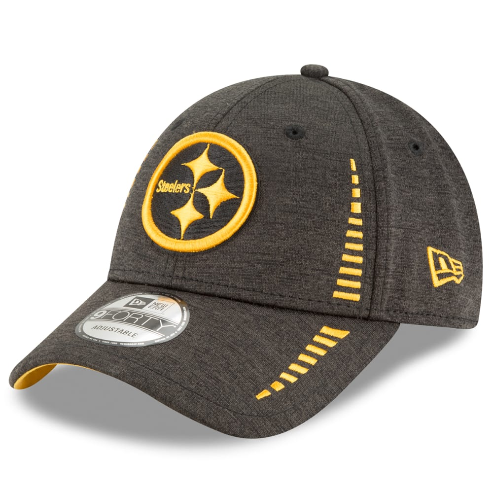 PITTSBURGH STEELERS Men's Shadow Speed Performance 9Forty Adjustable Cap - BLACK
