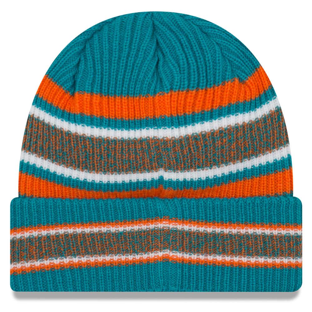 MIAMI DOLPHINS Vintage Stripe Cuff Knit Beanie - TURQUOISE