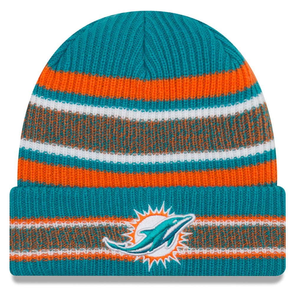 MIAMI DOLPHINS Vintage Stripe Cuff Knit Beanie - TURQUOISE