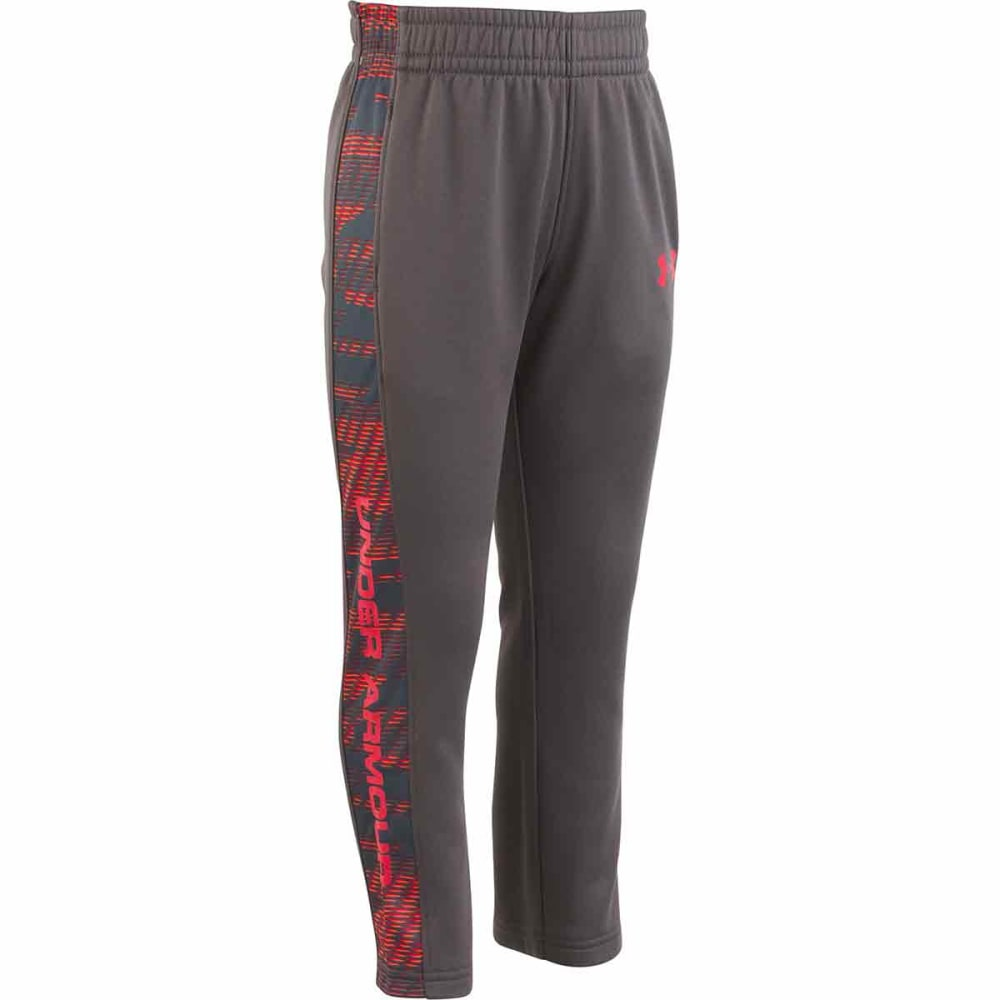 UNDER ARMOUR Little Boys' Armour Fleece Trave Pants - CHARCOAL/RED-06