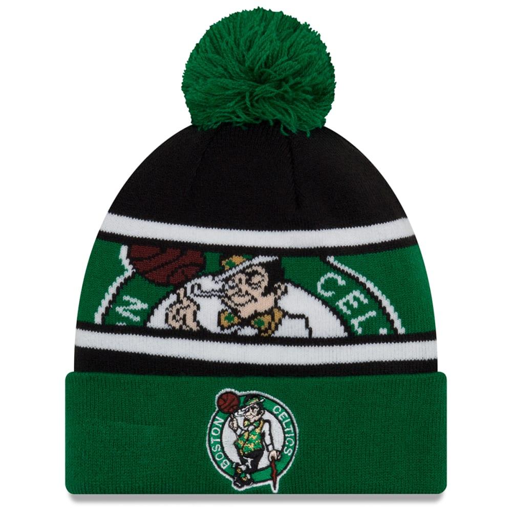 BOSTON CELTICS Callout Cuffed Pom Knit Beanie - GREEN