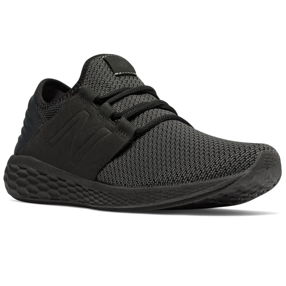 NEW BALANCE Men's Fresh Foam Cruz v2 Nubuck Running Shoes - BLACK - B2