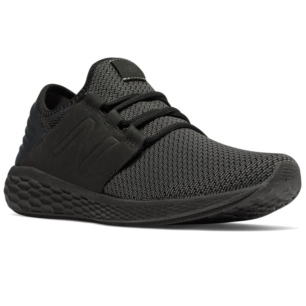 New Balance Men's Fresh Foam Cruz V2 Nubuck Running Shoes - Black, 8