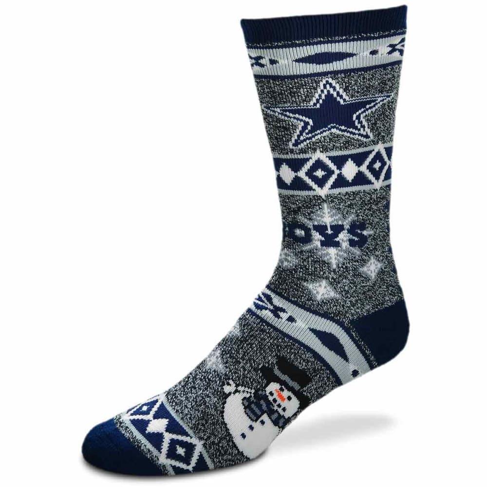 DALLAS COWBOYS Holiday Snowman Motif Socks - NAVY