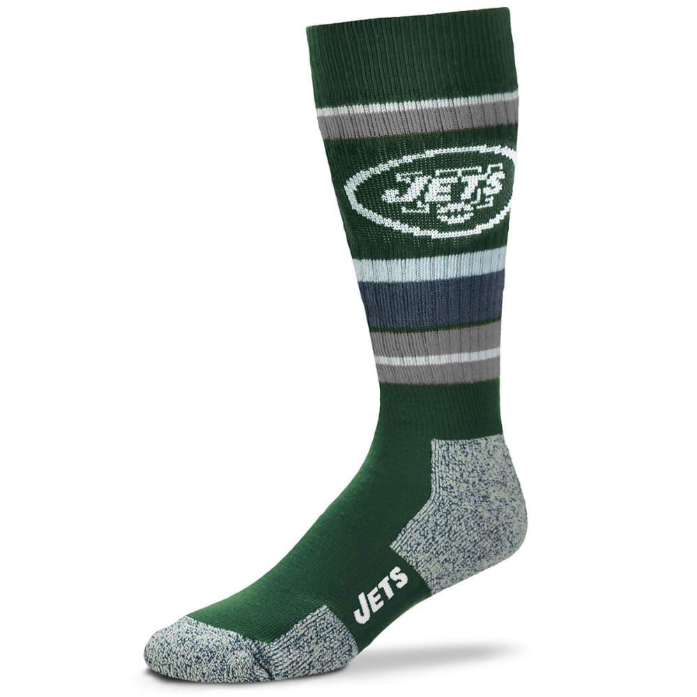 NEW YORK JETS Wild Stripe Crew Socks L