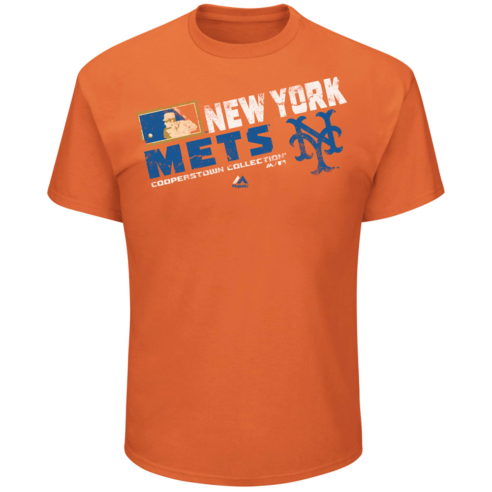 NEW YORK METS Men's Cooperstown Collection Short-Sleeve Tee - ORANGE