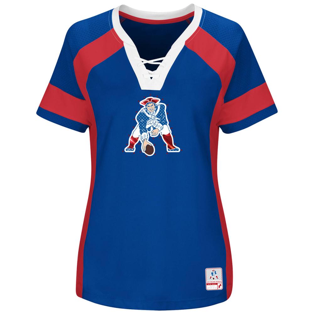 NEW ENGLAND PATRIOTS Women's Draft Me Pat Patriot Short-Sleeve Jersey Top - ROYAL BLUE
