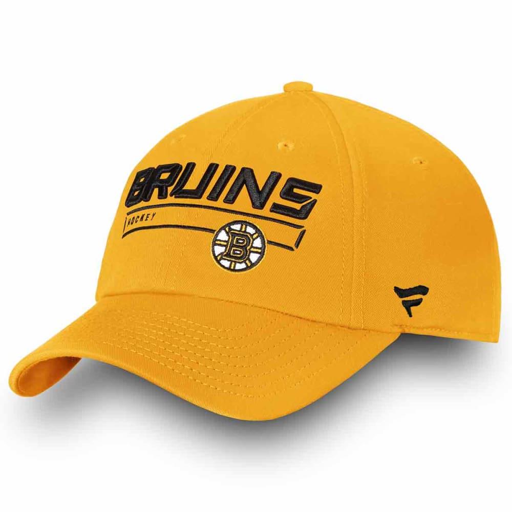 BOSTON BRUINS Men's Authentic Pro Rinkside Fundamental Adjustable Hat ONE SIZE