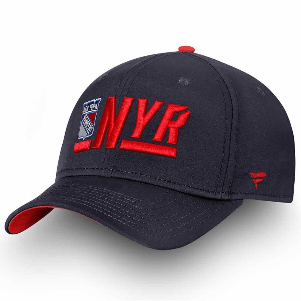 NEW YORK RANGERS Men's Authentic Pro Rinkside Alpha Adjustable Hat ONE SIZE