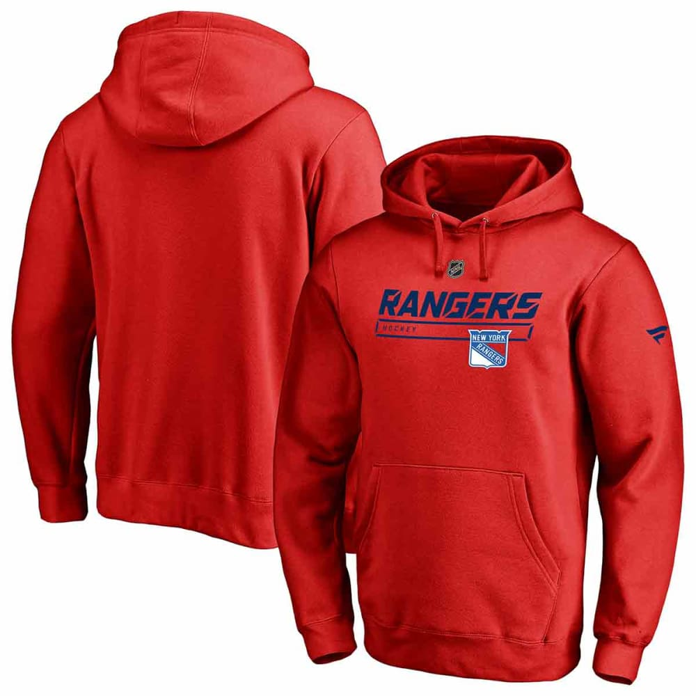 NEW YORK RANGERS Men's Authentic Pro Prime Pullover Hoodie L