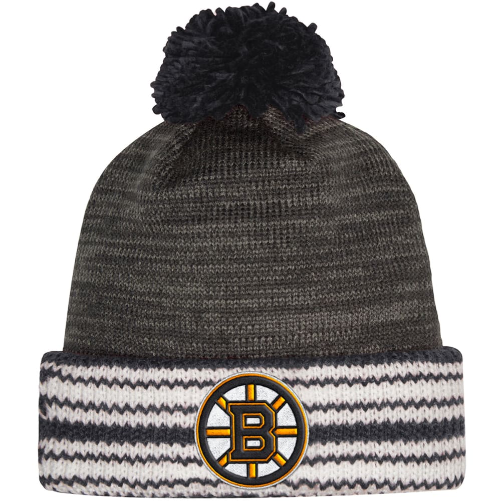 ADIDAS Boston Bruins Cuffed Pom Knit Beanie ONE SIZE