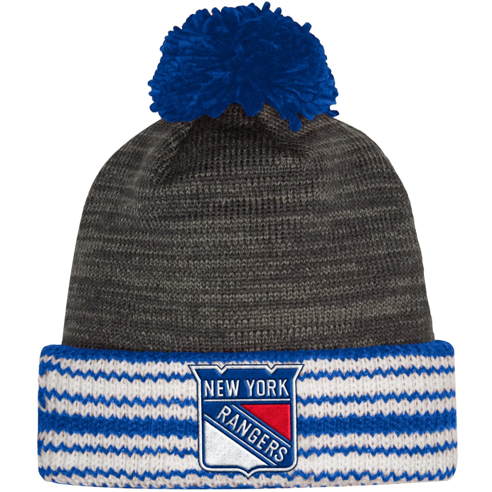 ADIDAS New York Rangers Cuffed Pom Knit Beanie - ROYAL BLUE