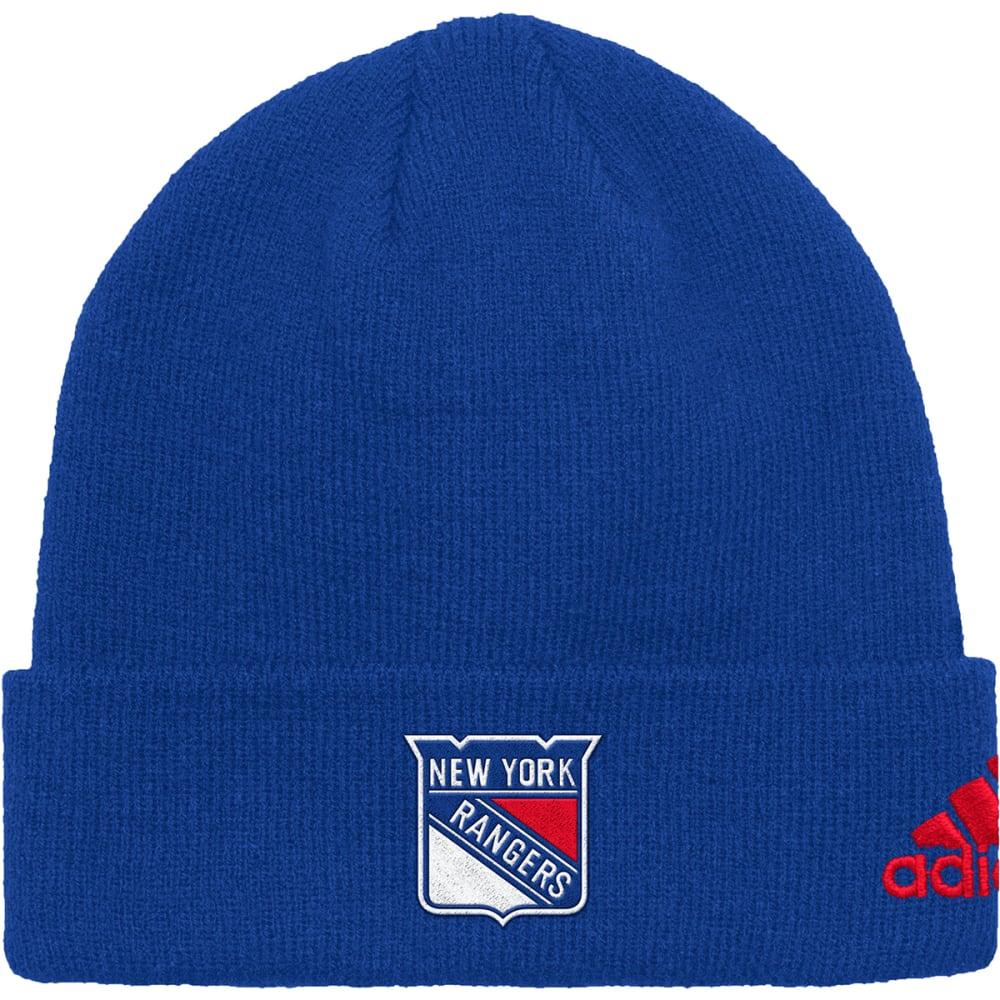 ADIDAS Men's New York Rangers Cuffed Beanie - ROYAL BLUE