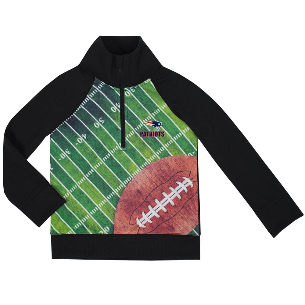 NEW ENGLAND PATRIOTS Toddlers' Sublimated Print Waffle ¼-Zip Pullover - NAVY