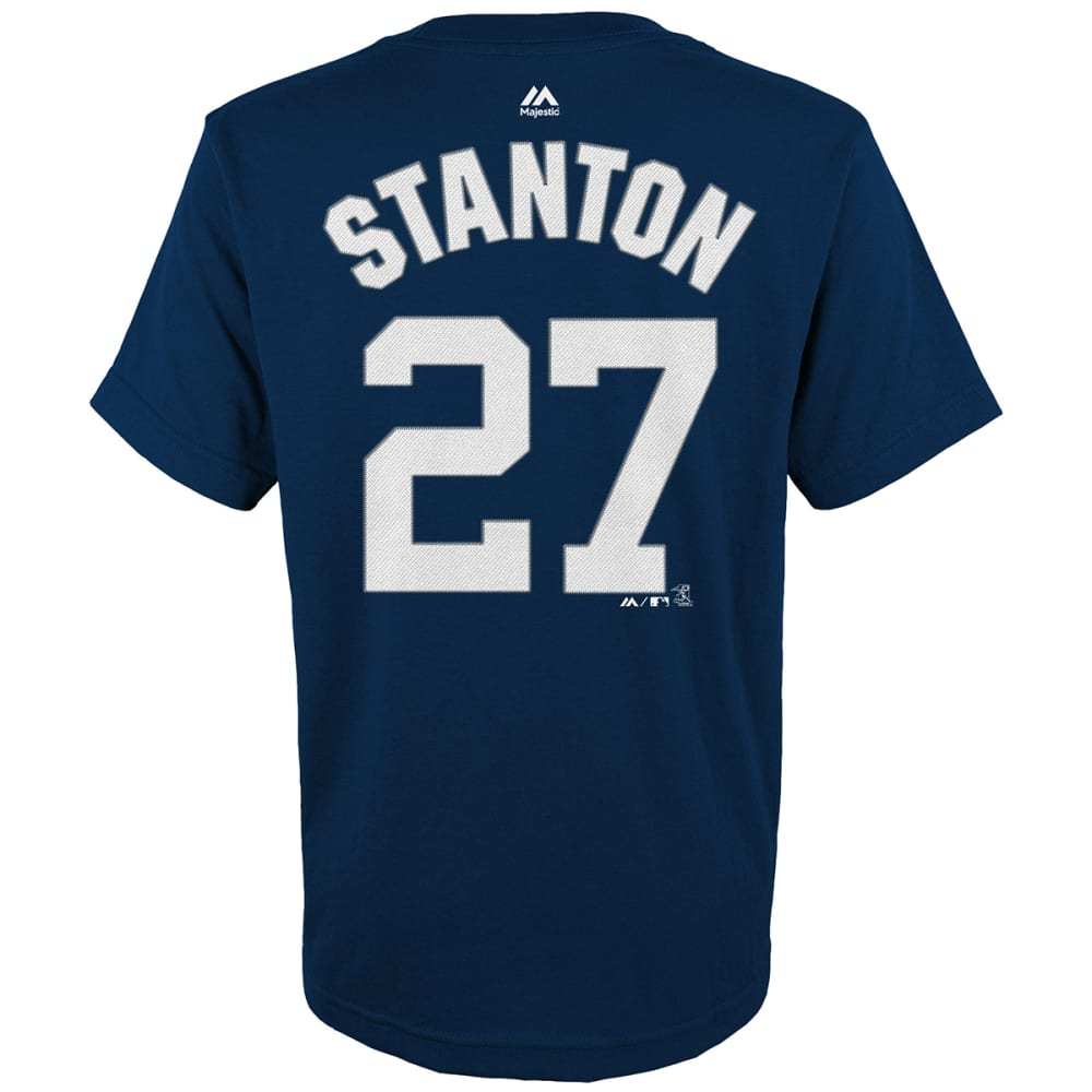 NEW YORK YANKEES Big Boys' Giancarlo Stanton #27 Name and Number Short-Sleeve Tee - NAVY