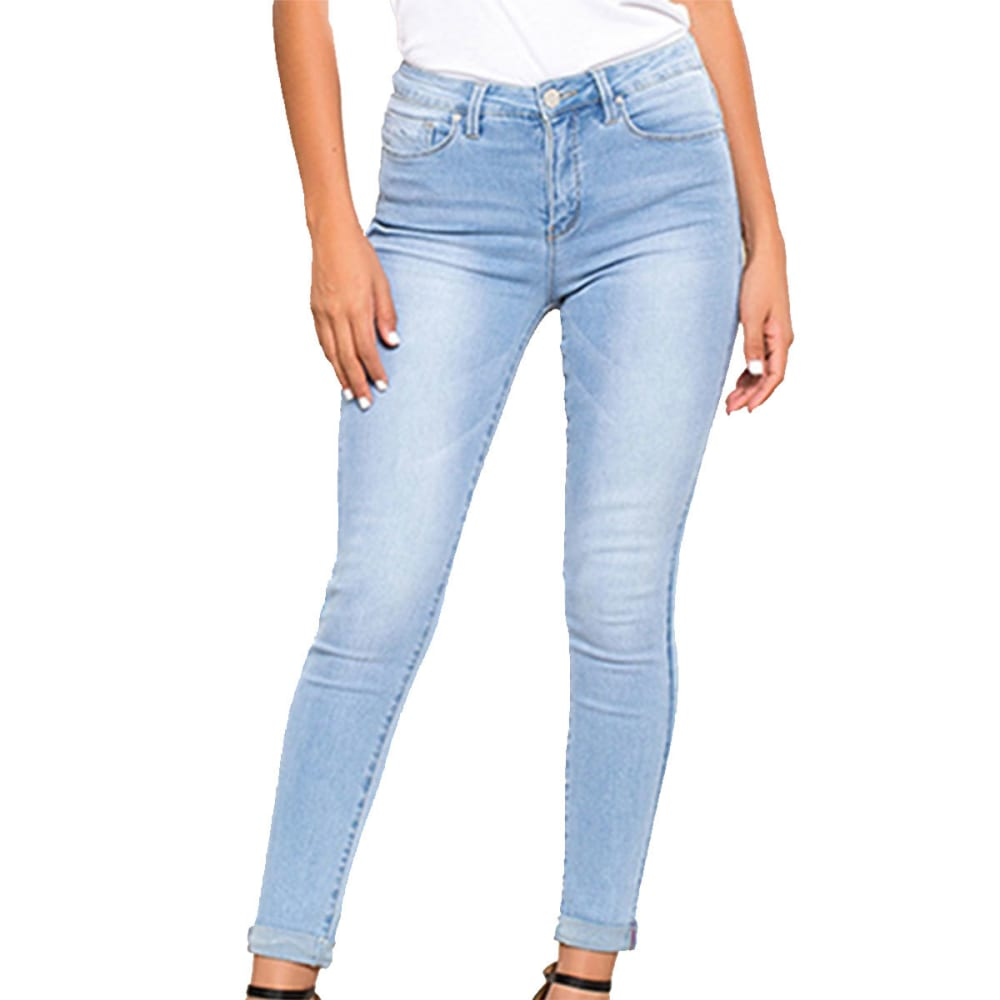 YMI Juniors' Hide Your Muffin Top High-Waist Anklet Jeans 3