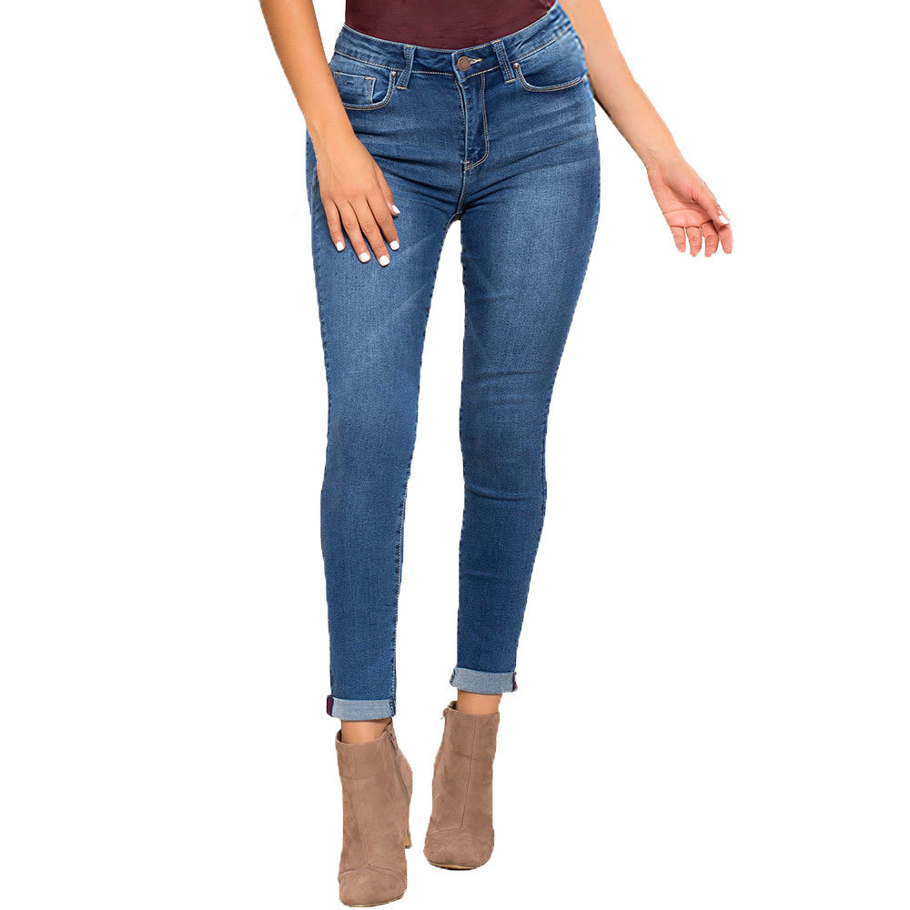 YMI Juniors' Hide Your Muffin Top High-Waist Anklet Jeans - M02