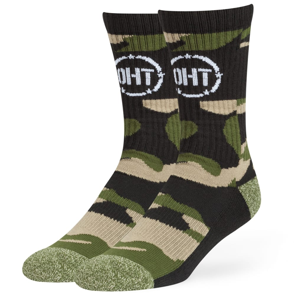 47 Brand Operation Hat Trick Norfolk '47 Hybrid Crew Socks - Green, L