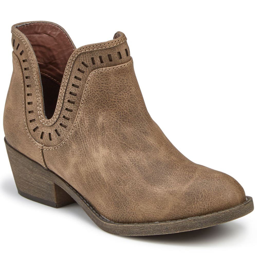 JELLYPOP Women's Eston Cutout Booties - BROWN DISTRESSED
