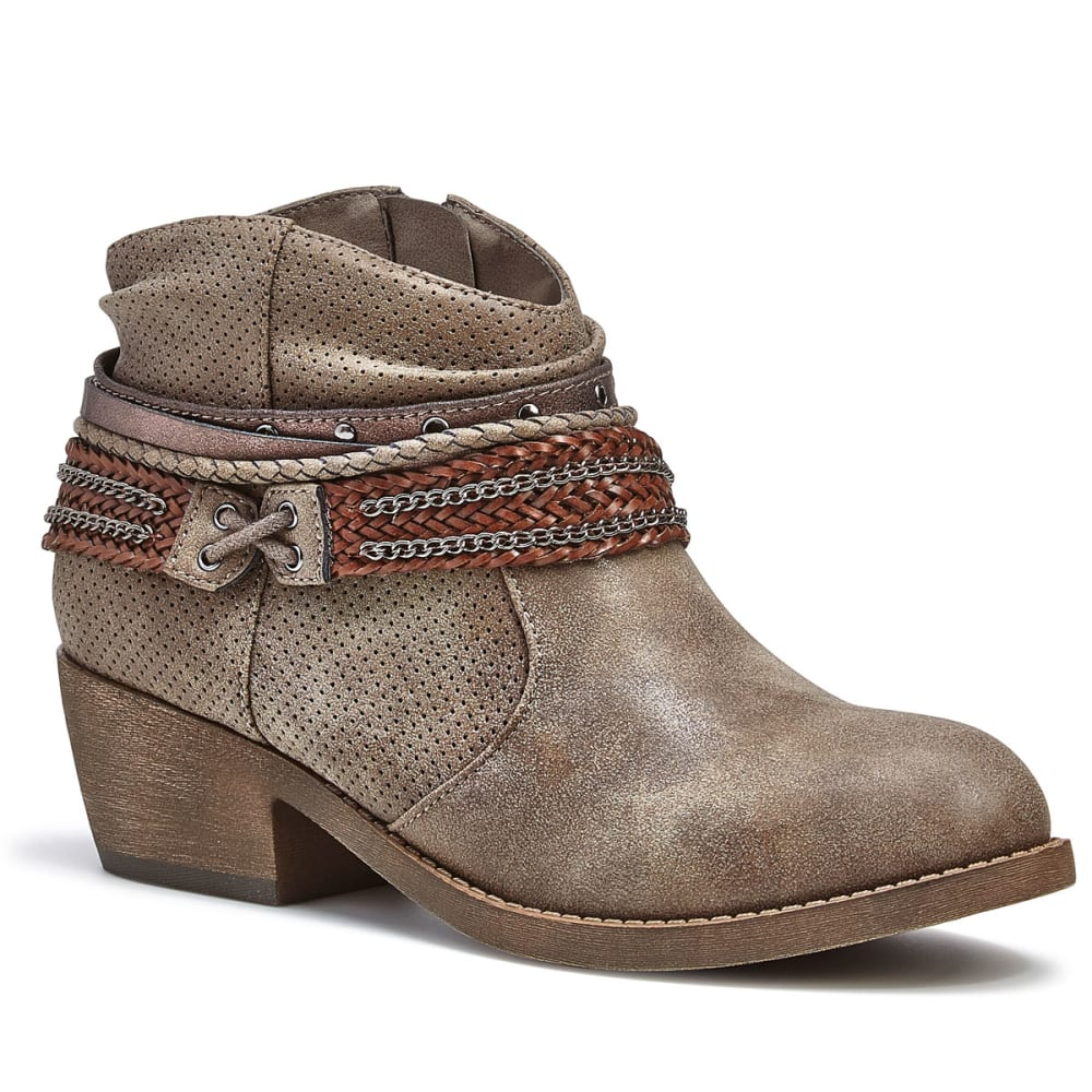 JELLYPOP Women's Michigan Belted Ankle Booties - GREY MULTI DISTRESS