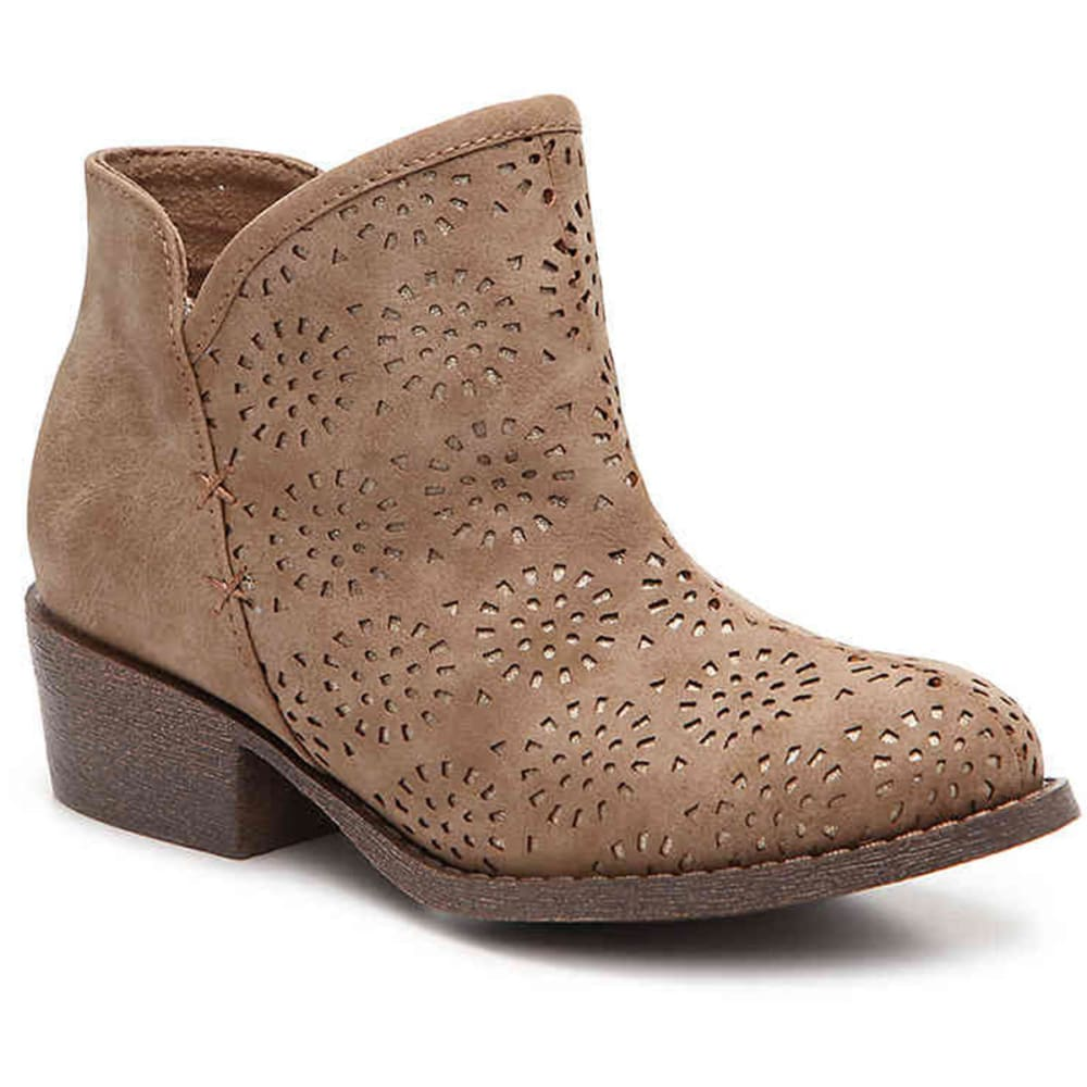 JELLYPOP Girls' Remilla Laser-Cut Booties - SAND