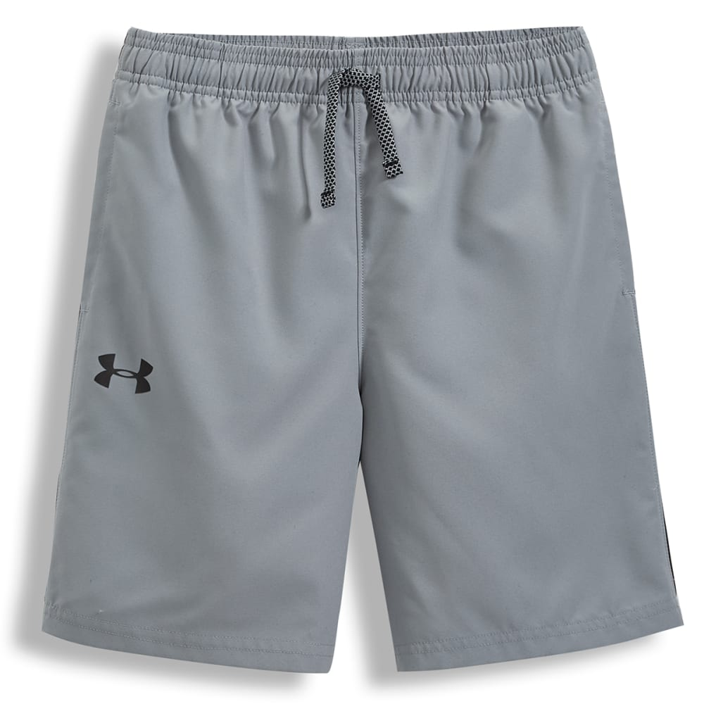 UNDER ARMOUR Big Boys' UA Woven Graphic Shorts - STEEL-035