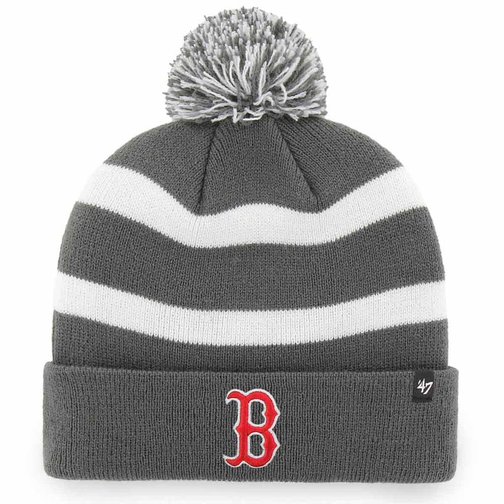 BOSTON RED SOX '47 Breakaway Cuffed Pom Knit Beanie - CHARCOAL
