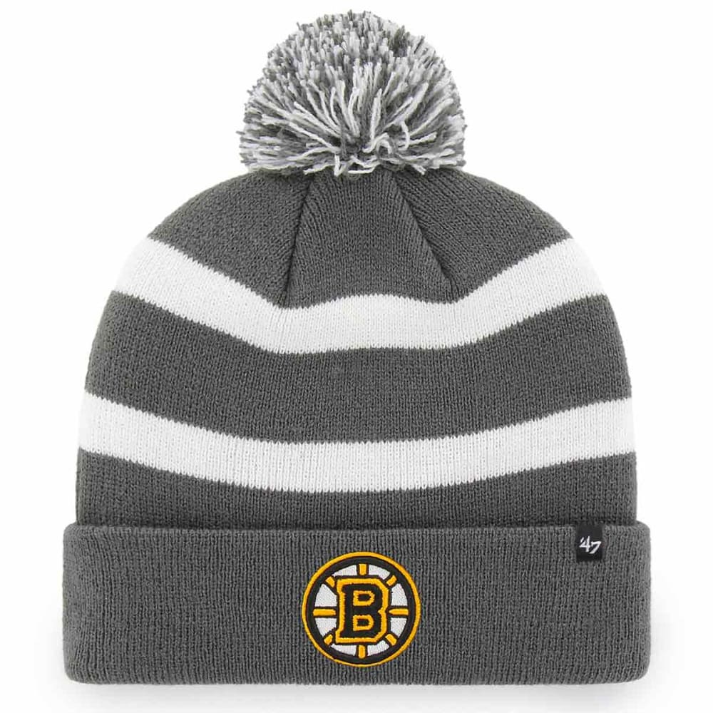BOSTON BRUINS '47 Breakaway Cuffed Pom Knit Beanie - CHARCOAL