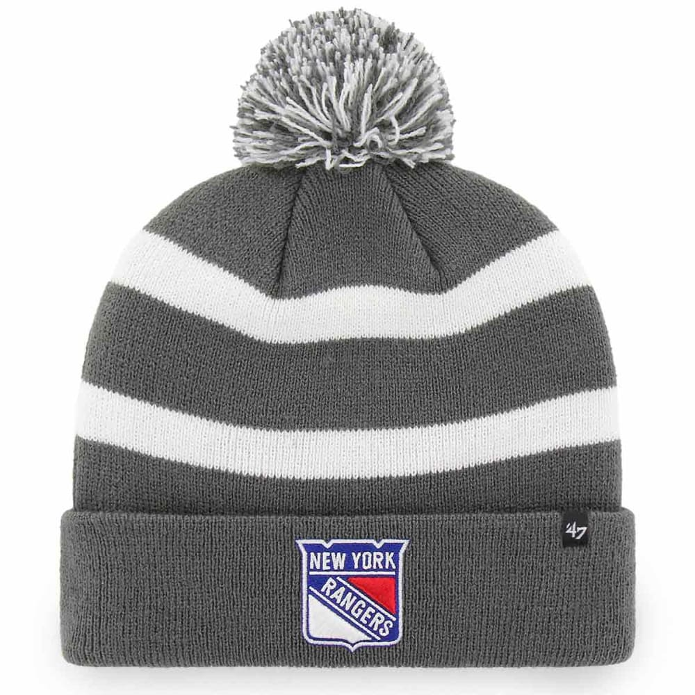 NEW YORK RANGERS '47 Breakaway Cuffed Pom Knit Beanie - CHARCOAL