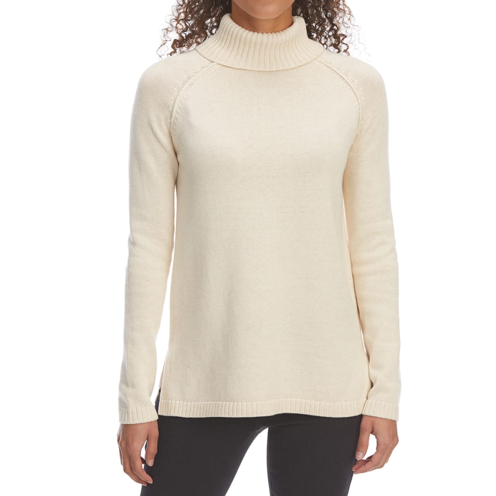 JEANNE PIERRE Women's Perfect Turtleneck Long-Sleeve Sweater - HEATHER BEIGE