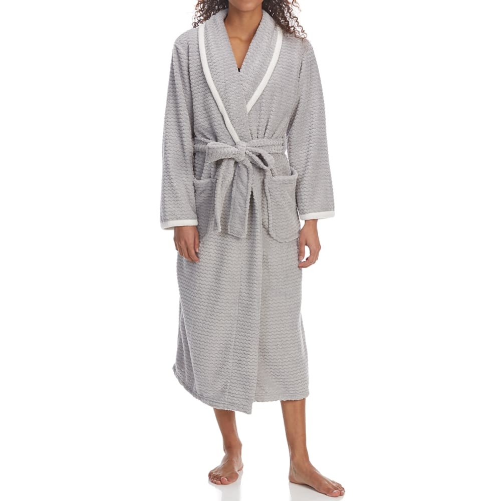 CAROLE HOCHMAN Women's Spa Day Plush Robe - 022-LT GREY