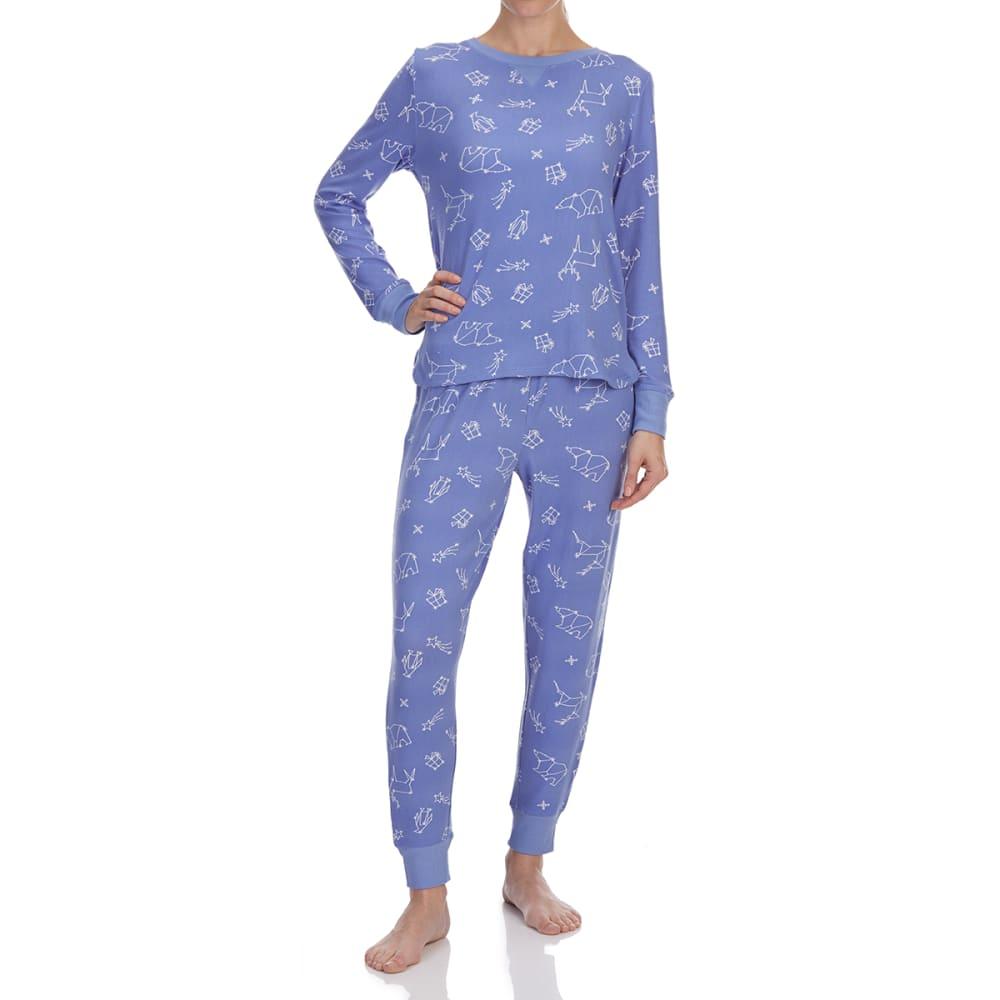 0dea7a6065f8 Jane & Bleecker Women's Knit Pajama Set Blu/White XL