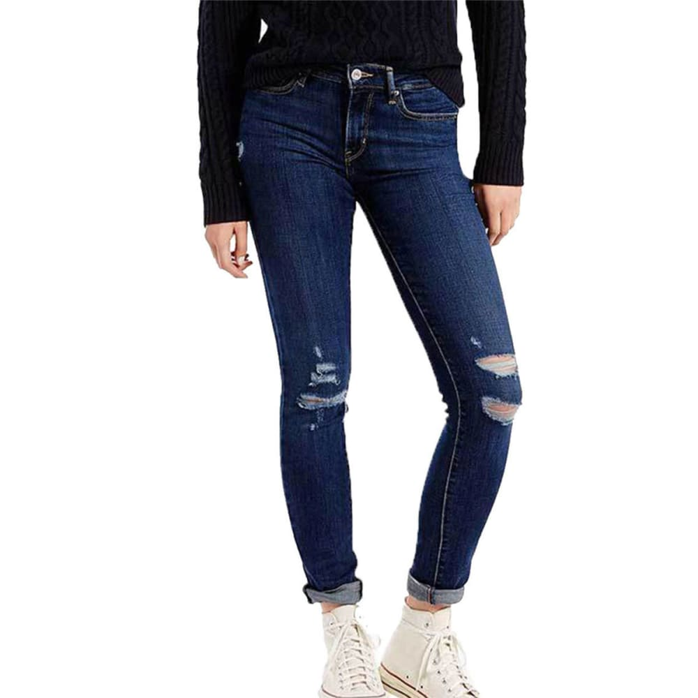 LEVI'S Women's 711 Skinny Jeans - 0148-DAMAGE IS DONE