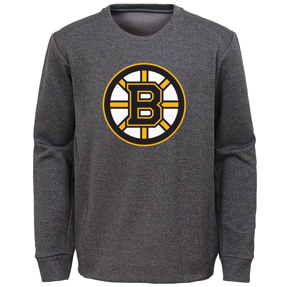 Boston Bruins Big Boys' Fleece Crewneck Pullover - Black, S