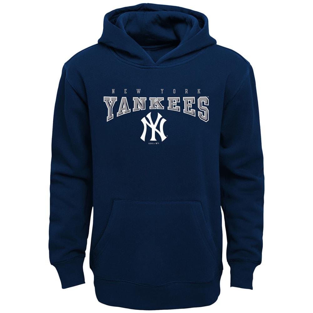 NEW YORK YANKEES Big Boys' Fadeout Pullover Hoodie - NAVY