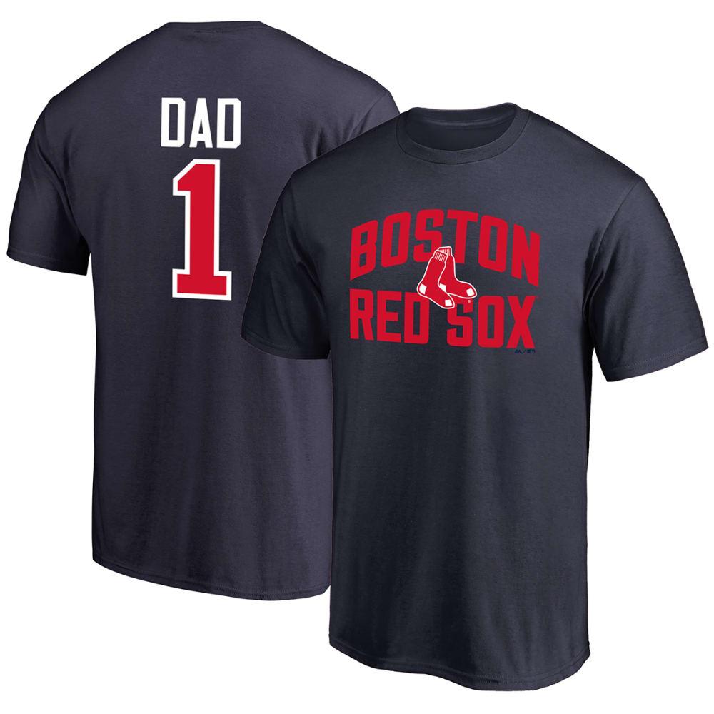 BOSTON RED SOX Men's #1 Dad Short-Sleeve Tee - NAVY