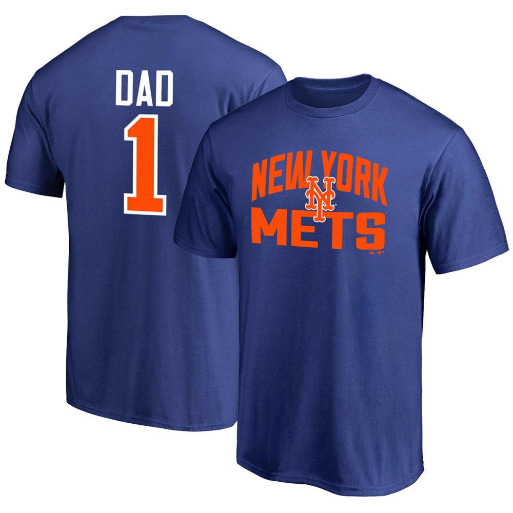 NEW YORK METS Men's #1 Dad Short-Sleeve Tee - ROYAL BLUE