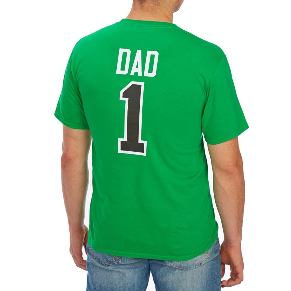 BOSTON CELTICS Men's #1 Dad Short-Sleeve Tee - GREEN