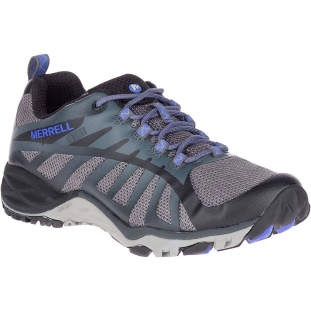 Merrell Women's Siren Edge Q2 Waterproof Low Hiking Shoes - Black, 6