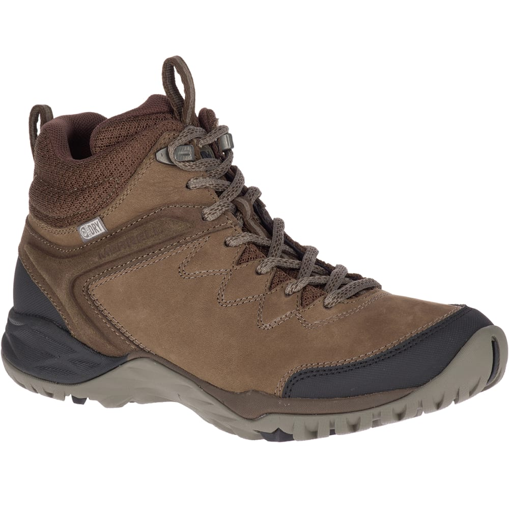 MERRELL Women's Siren Traveller Q2 Mid Waterproof Hiking Boots - SLATE/BLACK