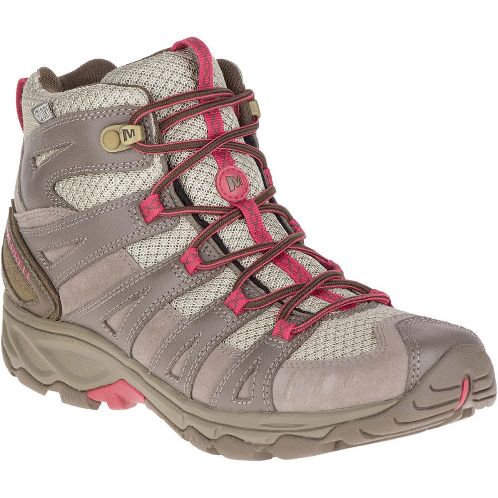 Merrell Women's Avian Light 2 Ventilator Mid Waterproof Hiking Boots - Brown, 7