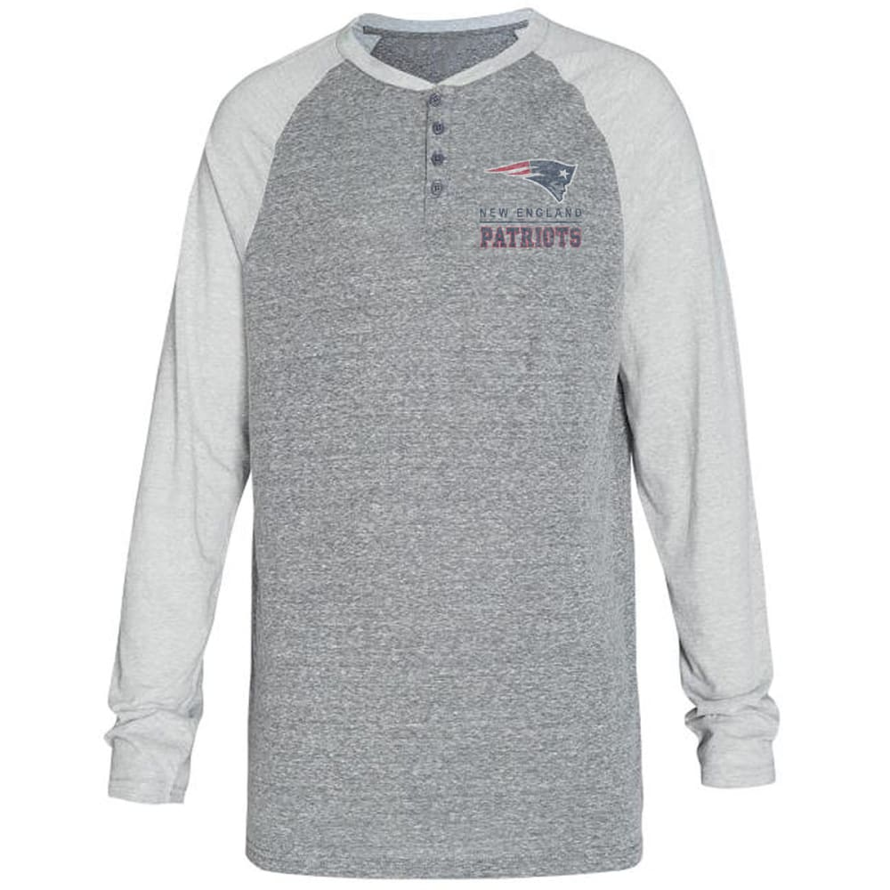 NEW ENGLAND PATRIOTS Men's Homestretch Long-Sleeve Henley - GREY