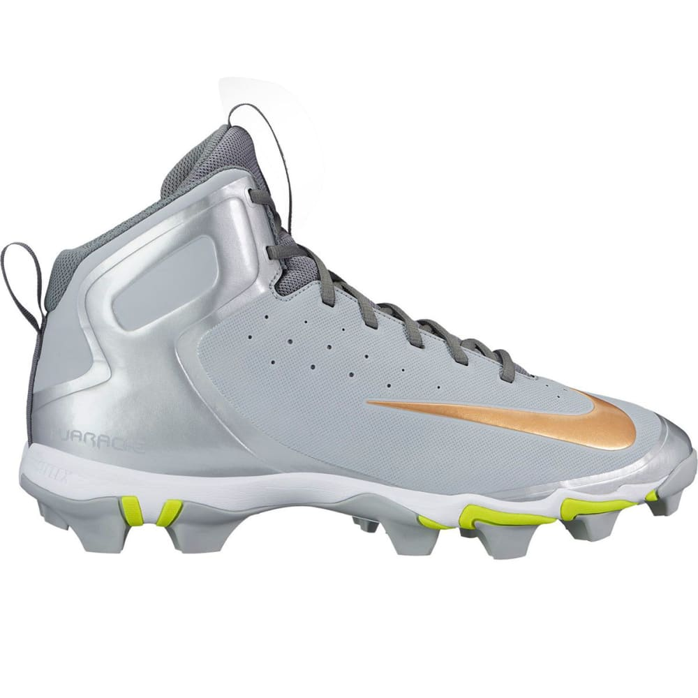 NIKE Men's Alpha Hurache Keystone Mid Baseball Cleats - WOLF GREY-071