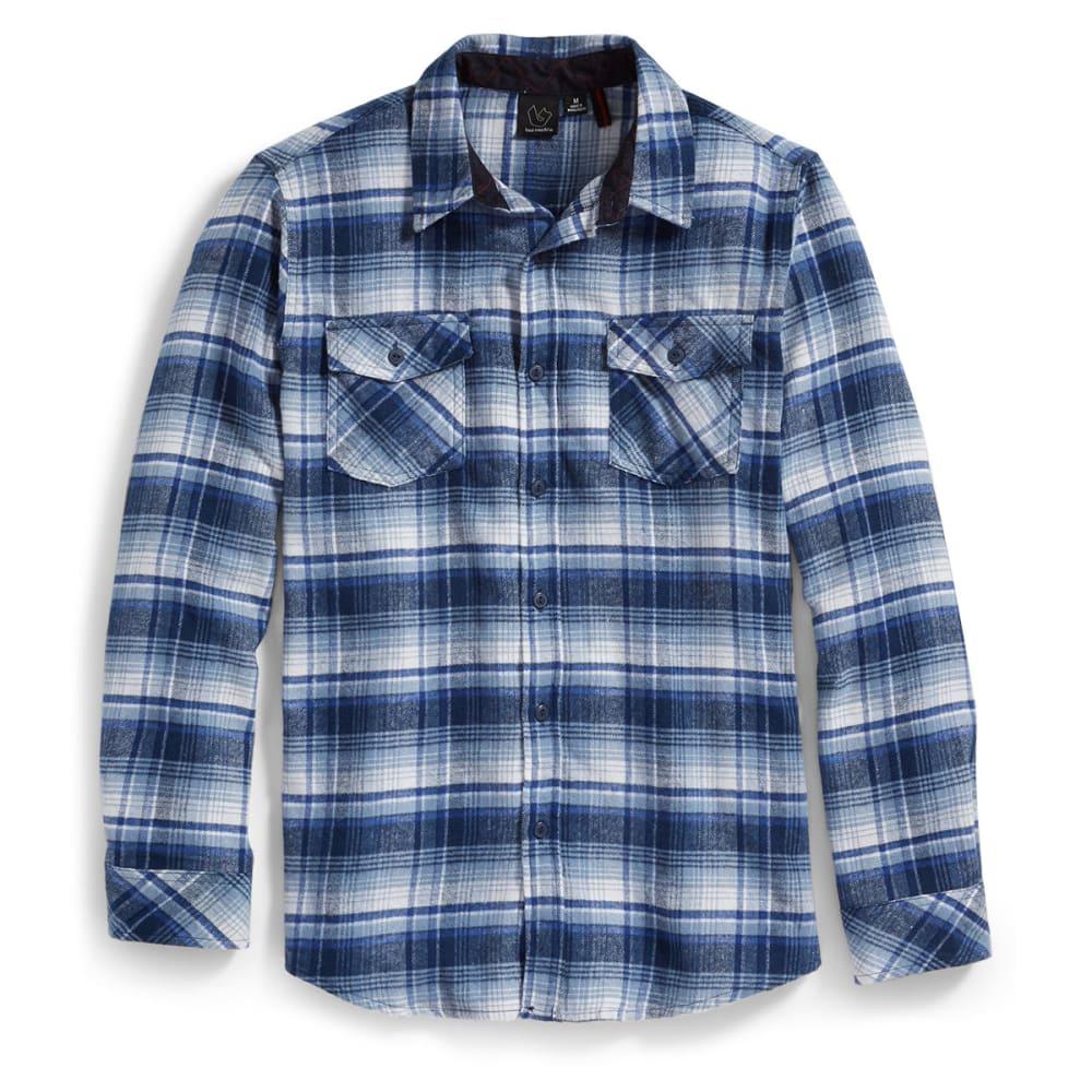 BURNSIDE Guys' Long-Sleeve Flannel Shirt - BLUE