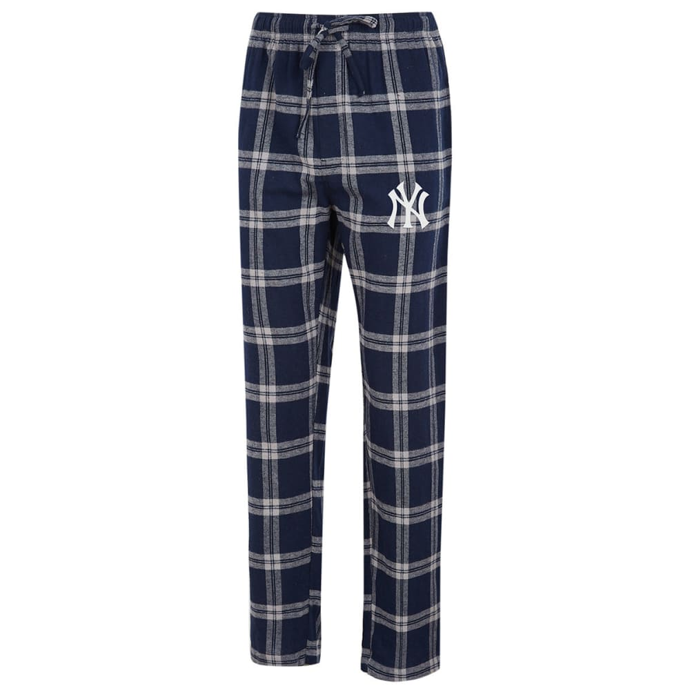 NEW YORK YANKEES Men's Homestretch Flannel Pajama Pants - NAVY