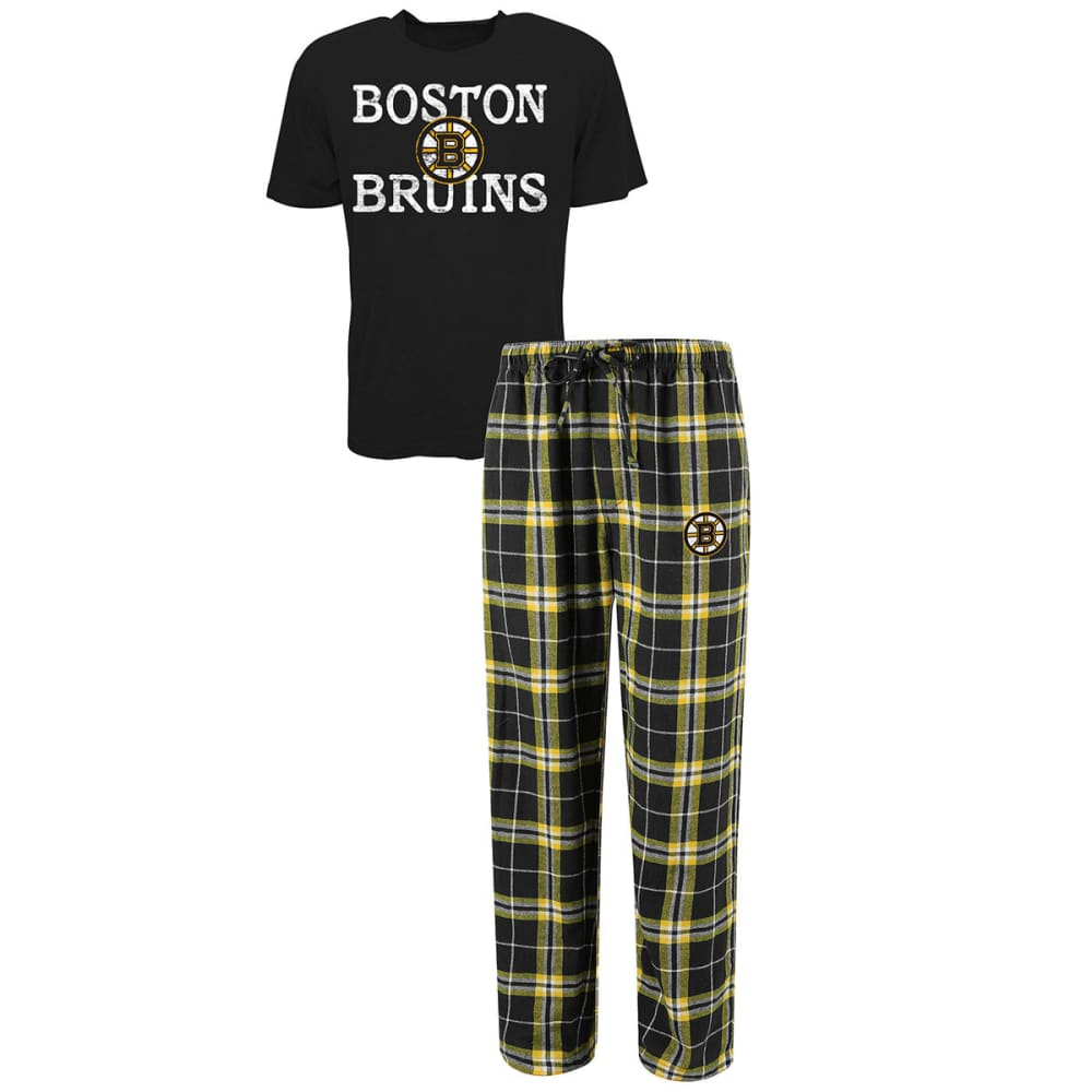 BOSTON BRUINS Men's Duo Sleep Set - BLACK